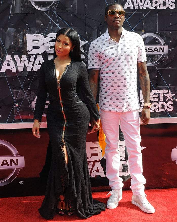 Nicki and Meek Mill made their red carpet debut as a couple at the awards show