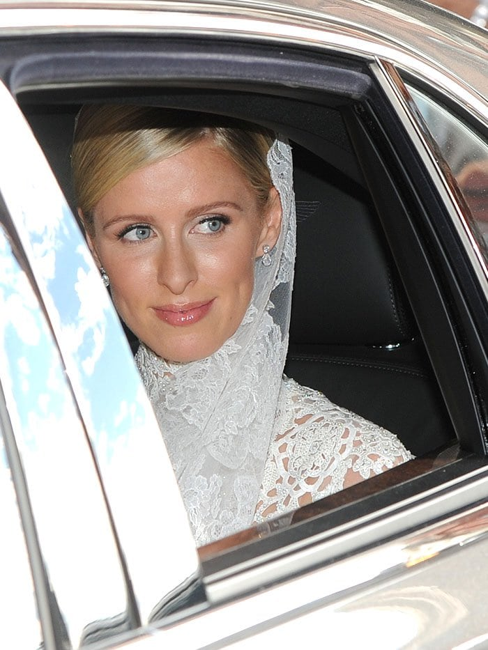 A radiant Nicky Hilton on her wedding day