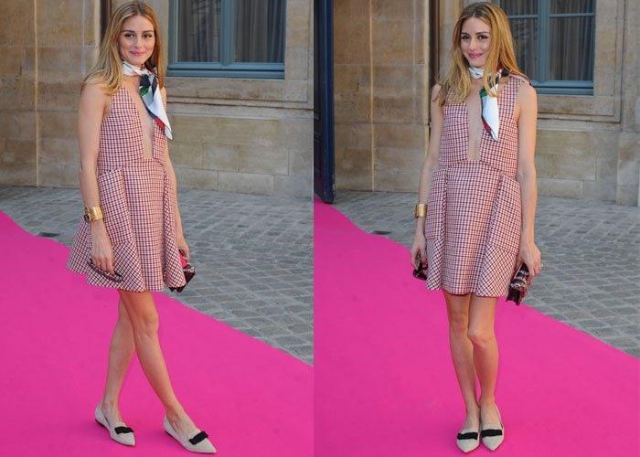 Olivia Palermo attends the Schiaparelli show as part of Paris Fashion Week