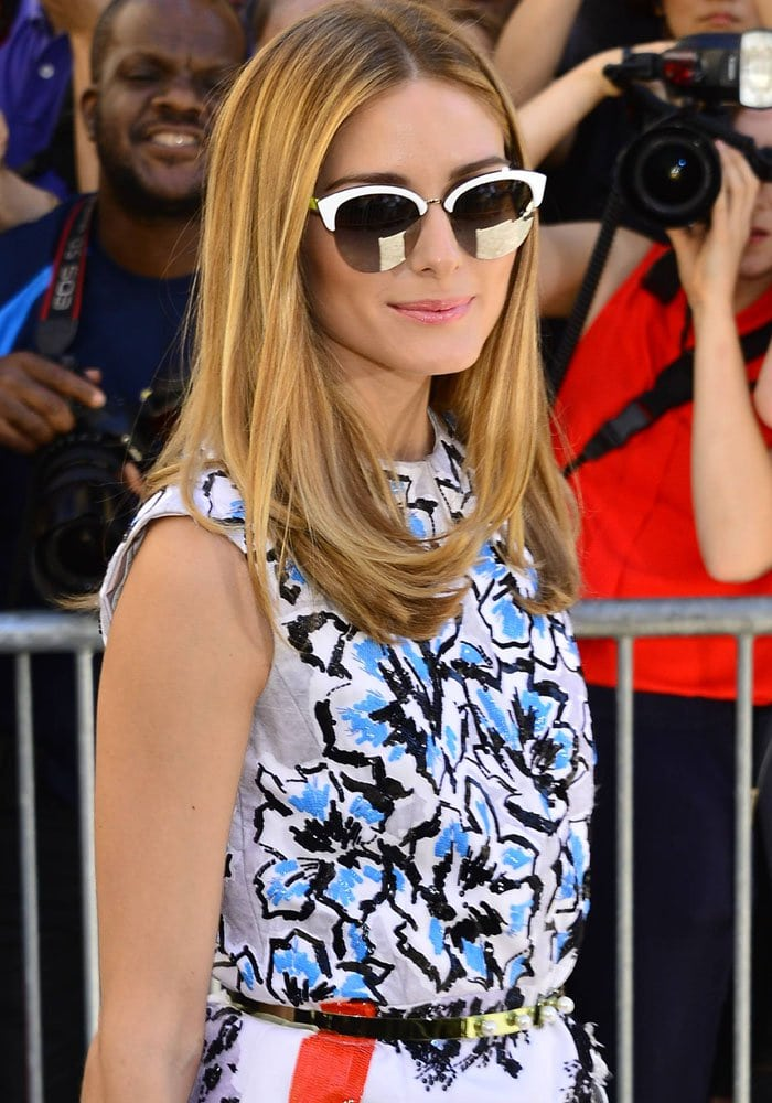Olivia Palermo attends the Christian Dior show as part of Paris Fashion Week