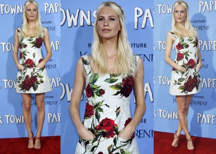 Poppy Delevingne wore a floral dress with pockets
