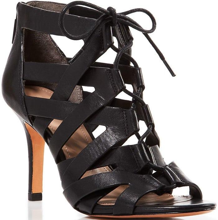 Pour La Victoire Camila Caged Heel in Black