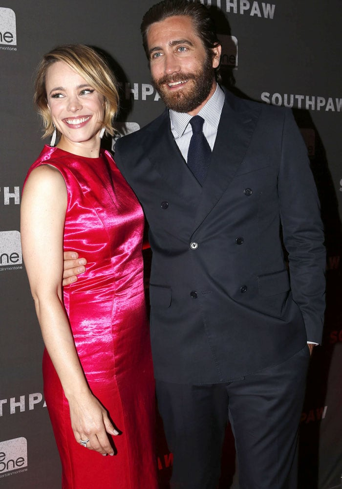 Rachel McAdams and Jake Gyllenhaal at the Canadian premiere of Southpaw
