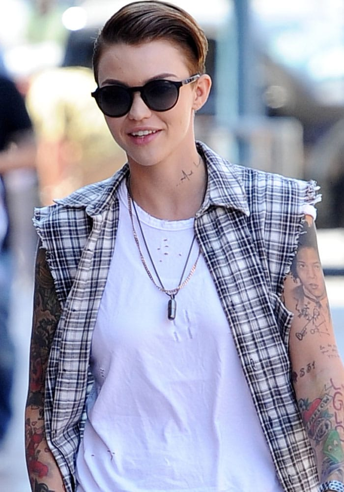 Ruby Rose heads to a medical building in Beverly Hills