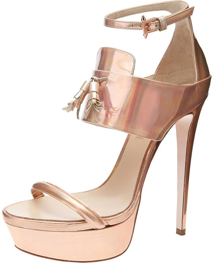 Rose Gold Ruthie Davis Ivy Platform Sandals