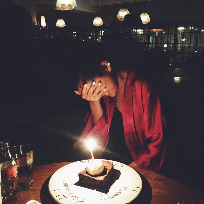 """Selena Gomez's birthday photo posted on Instagram with the following caption: """"I am the luckiest, happiest girl today. Thank you guys so much for all the bday wishes!! I love growing up with YOU. 🙈❤️"""""""