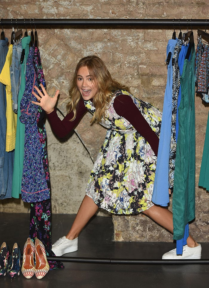 Suki Waterhouse at a fashion shoot to unveil the new Amazon Fashion Photography Studio