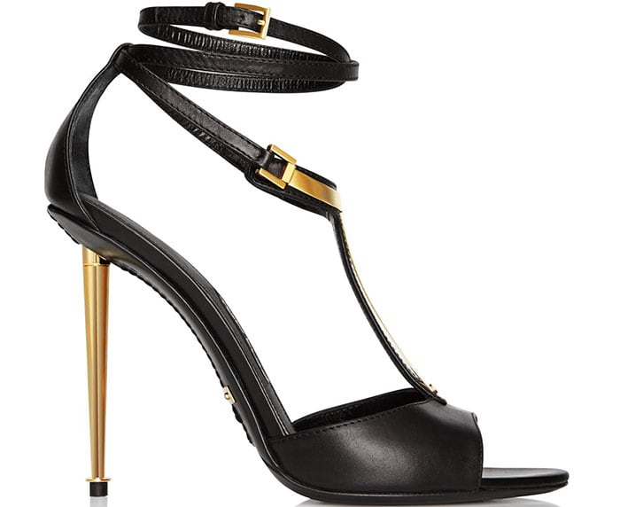 Tom Ford Leather T-Bar Sandals