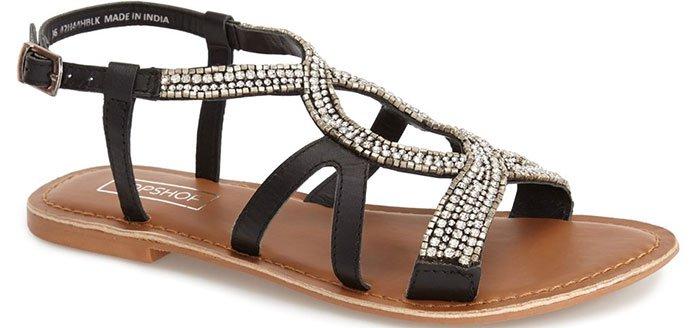 Topshop 'Hotel' Embellished Sandals