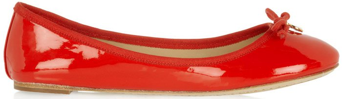 Tory Burch Chelsea Patent-Leather Ballet Flats