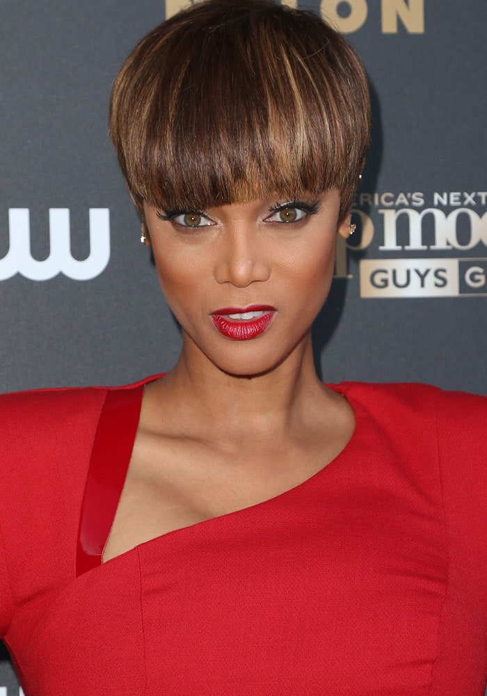 Tyra Banks attends America's Next Top Model Cycle 22 premiere party