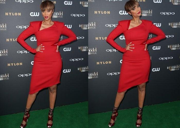 Tyra Banks ANTM Red Snake Heels 2