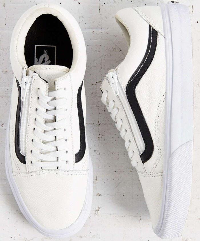 Vans Leather Old School Zip Sneakers