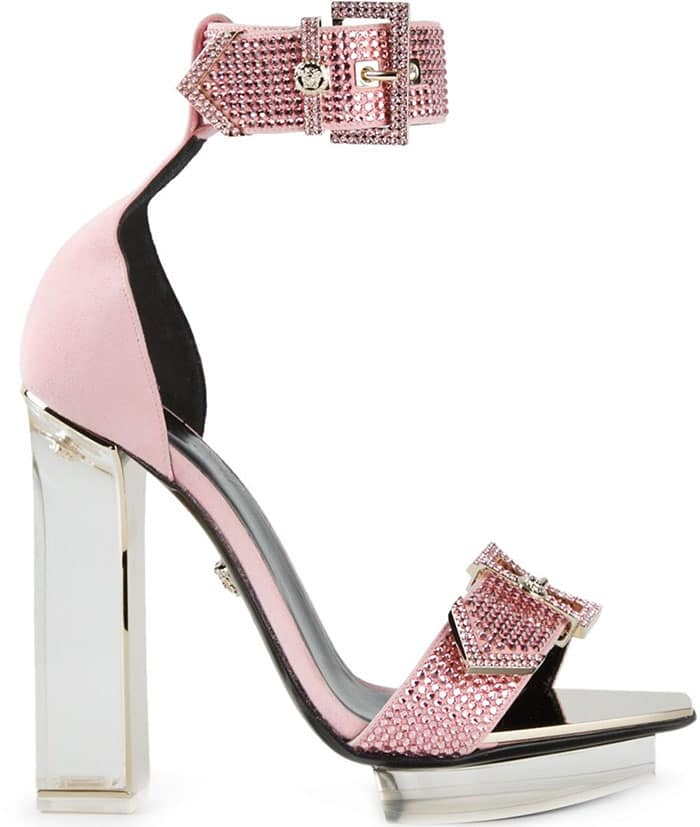 Versace Transparent-Heel Sandals