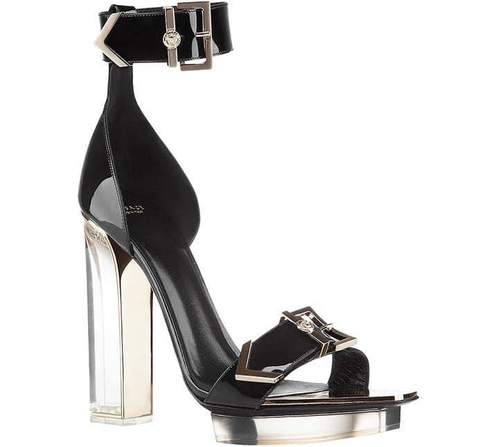 Versace Plexi-Heel Sandals