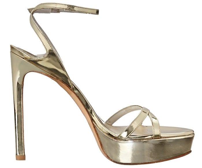 Stuart Weitzman Bebare Sandals Metallic Gold