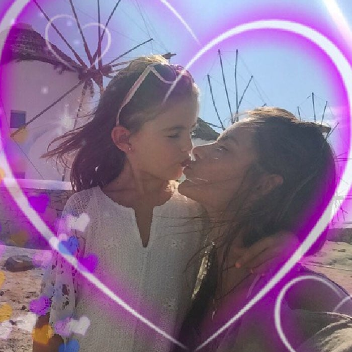 """Alessandra Ambrosio's Instagram upload, captioned: """"Today is a very special day !!!! 7 years ago my little angel was born and my heart was fulfilled with the most beautiful love !!! Anja, you are such an amazing little girl and there is no words to describe my love for you !!! Happy birthday my angel"""""""