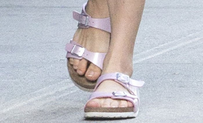Amanda Seyfried's two-toned Birkenstocks