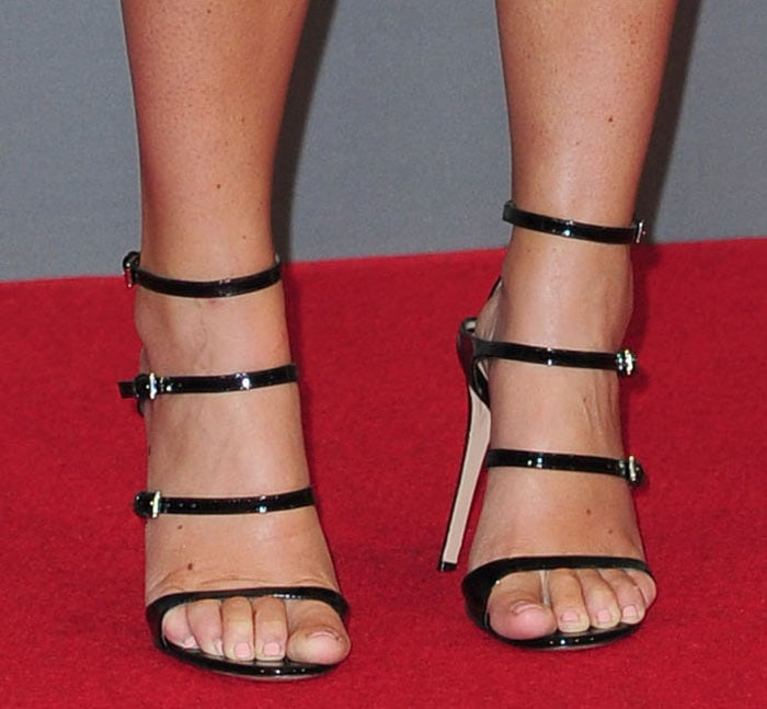 Amy Schumer's sexy feet in Gianvito Rossi sandals