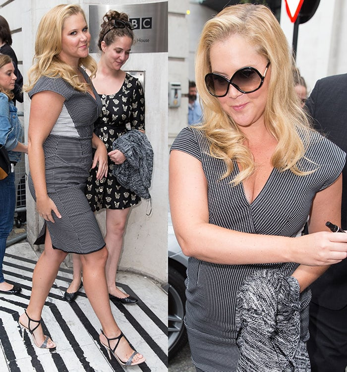 Amy Schumer showcasing her styling prowess while flaunting her curves