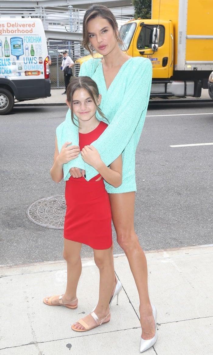 Anja Louise Ambrosio Mazur and Alessandra Ambrosio leaving S by Serena Williams Fashion Show