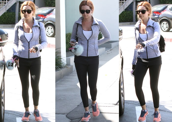 Ashley Tisdale Nike Workout 2
