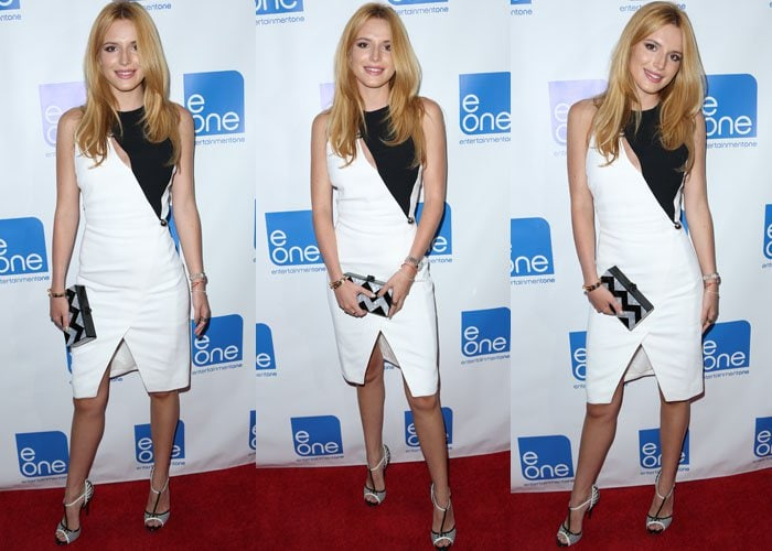Bella Thorne toted a clutch from Eddie Parker