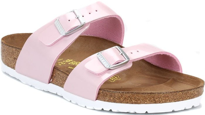 "Birkenstock Pearly Rose ""Sydney"" Sandals in Pink"