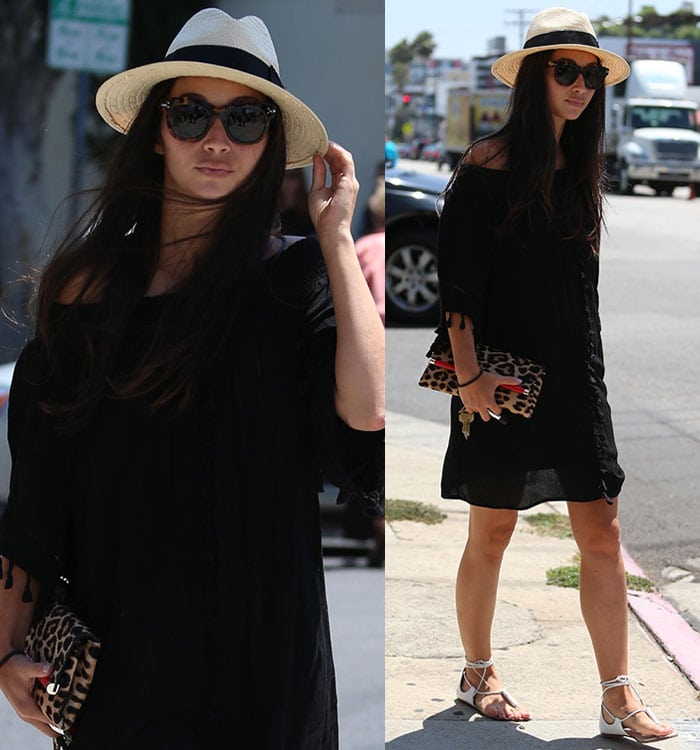 Cara Santana going out for lunch at Fig & Olive