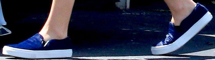 Chloë Grace Moretz wears casual Vans slip-ons