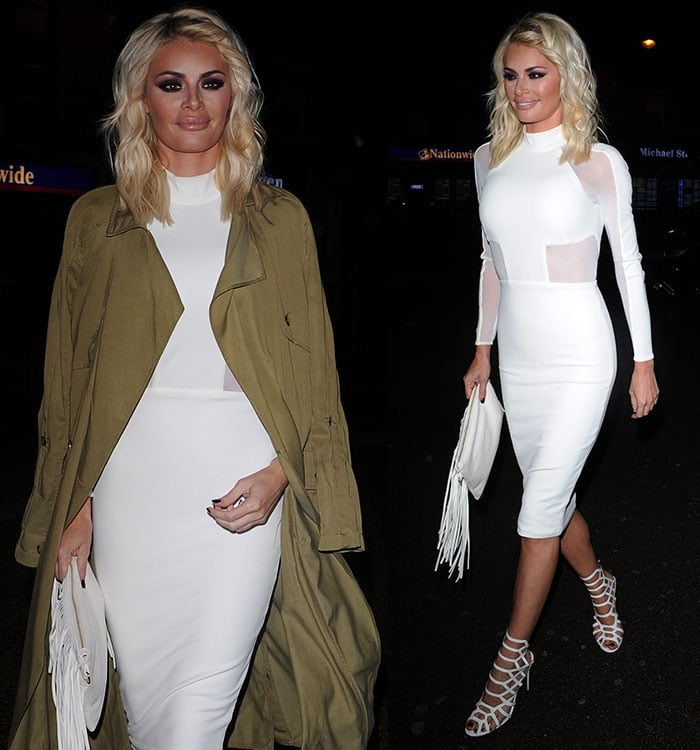 Chloe-Sims-Fitted-White-Mesh-Paneled-Dress-Nu-Bar