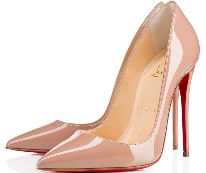 Christian Louboutin So Kate Pumps Nude Patent