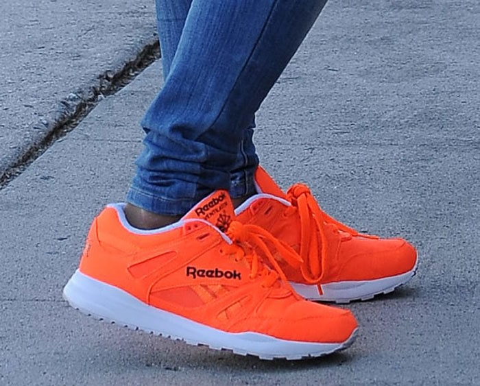 Christina-Milian-Reebok-Ventilator-OG-Solar-Orange-Sneakers-1