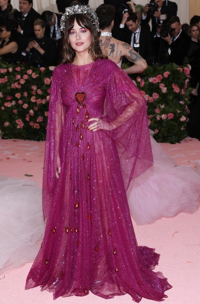 Dakota Johnson at the 2019 Met Gala held at the Metropolitan Museum of Art