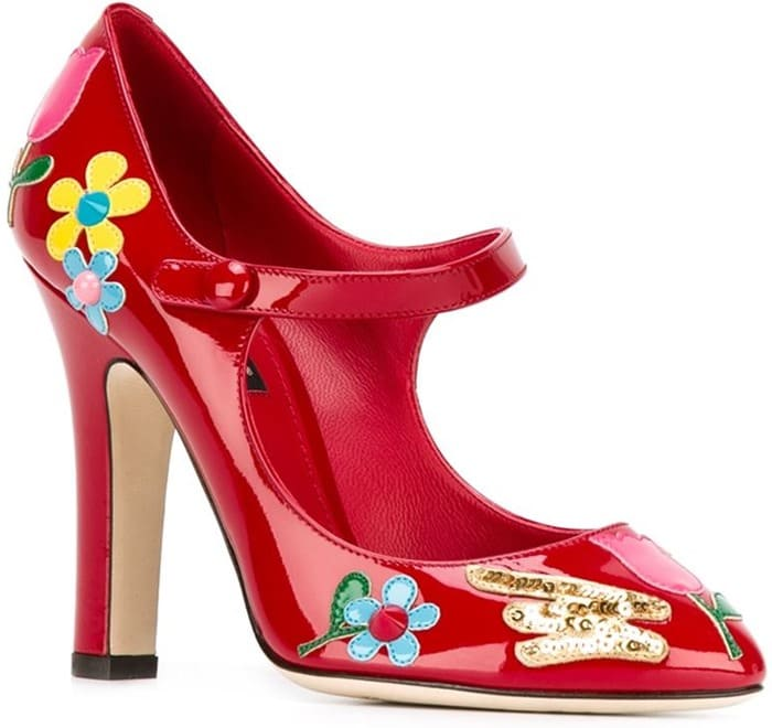 Dolce & Gabbana flower patch mary jane pumps