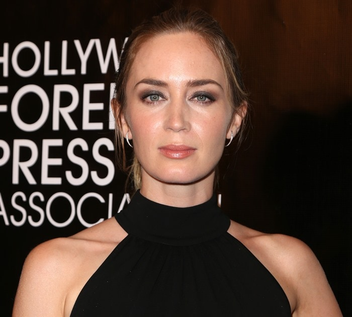 Emily Blunt attends the 2015 HFPA Annual Grants Banquet