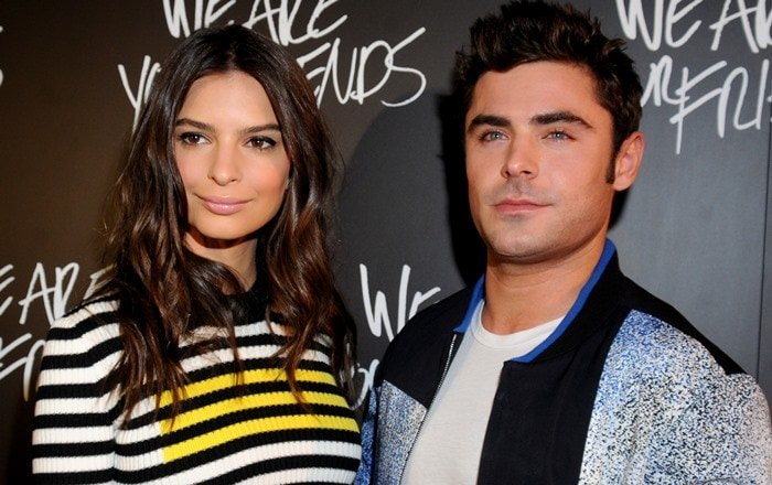 Emily Ratajkowski and Zac Efron at the premiere of We Are Your Friends