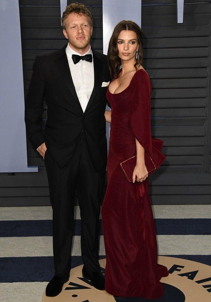 Emily Ratajkowski looked happy with her husband Sebastian Bear-McClard
