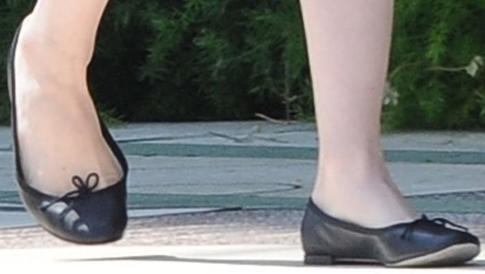 Emma Stone wearing Repetto ballet flats