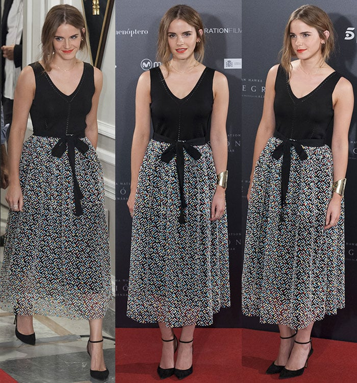 "Emma Watson in a Christopher Kane Resort 2016 outfit at the ""Regression"" photocall"