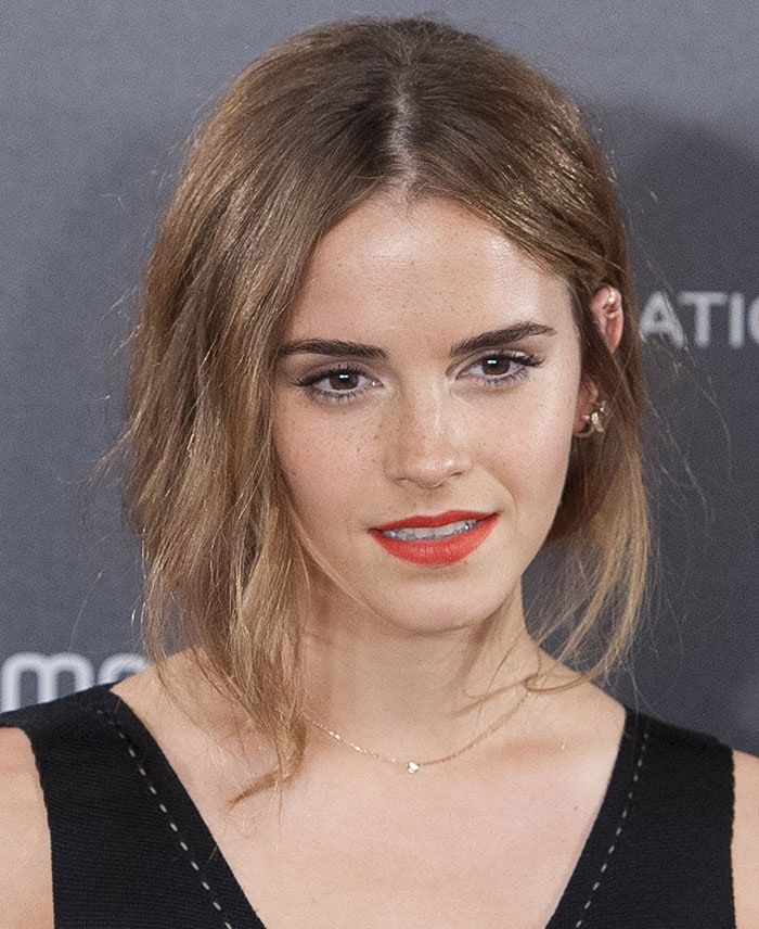 Emma Watson's very messy hairstyle