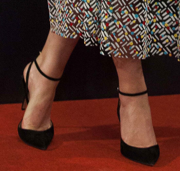 Emma Watson wearing Paul Andrew pumps