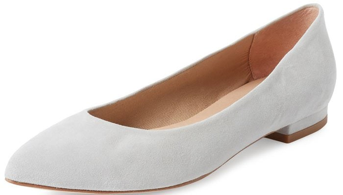 French Sole FS/NY Nevi Pointed Toe Ballet Flat