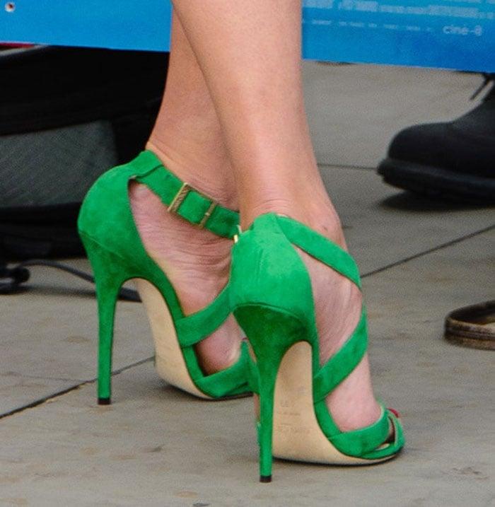 Gemma Arterton Flashes Midriff And Flawless Legs In Crop