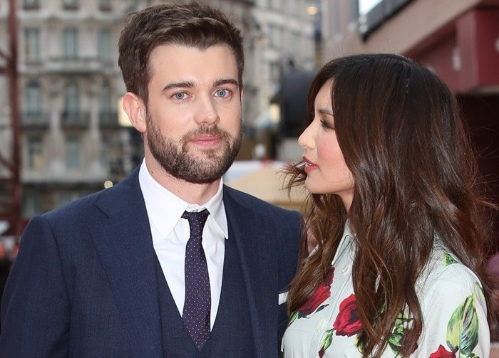 Gemma Chan and Jack Whitehall at the world premiere of his movie The Bad Education Movie at the Vue West End in London on August 20, 2015