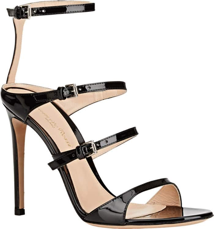 Gianvito-Rossi-Carey-Triple-Strap-Buckled-Sandals-Patent
