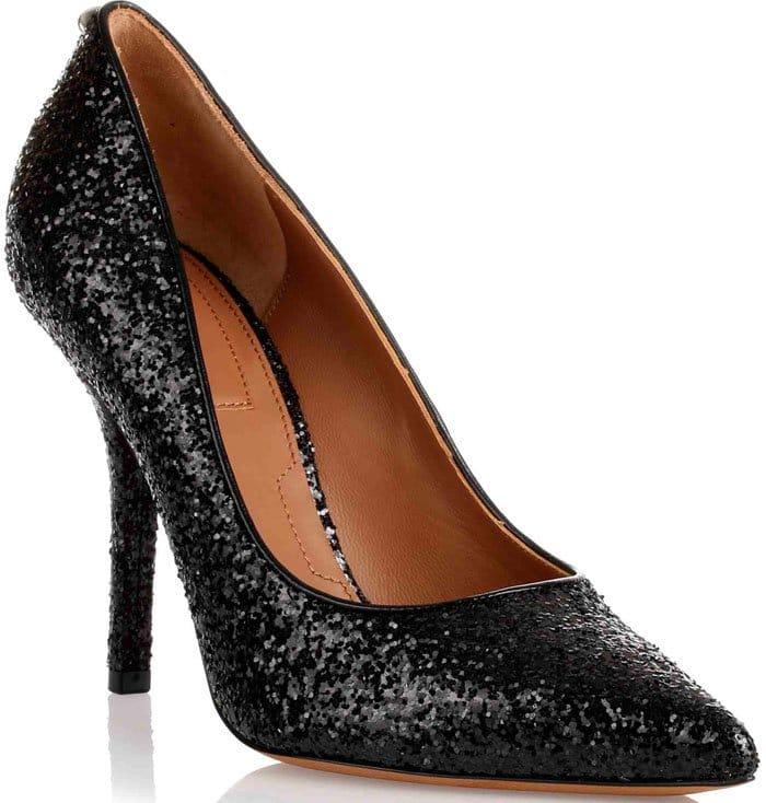 Givenchy Black Glitter Pump