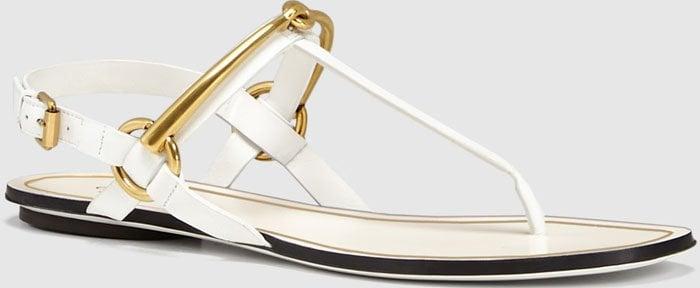 "Gucci ""Tess"" Horsebit Leather Sandals"