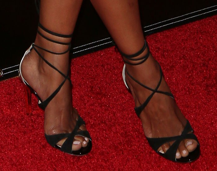 Halle Berry in Jimmy Choo Teira sandals