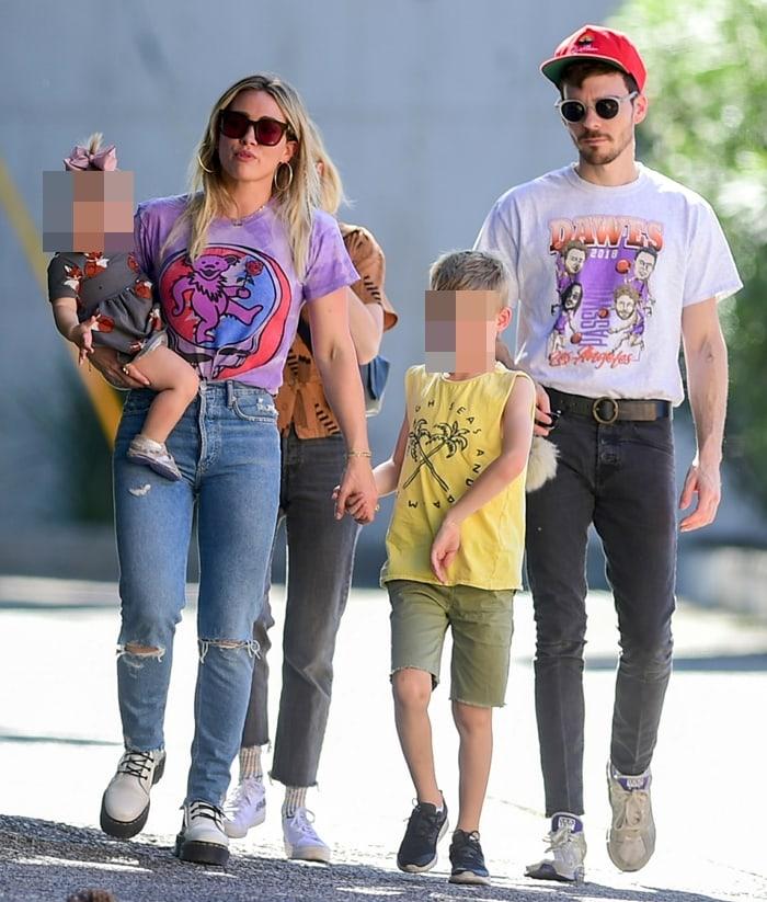 Hilary Duff, Banks Violet Bair, Luca Cruz Comrie, and Mathew Koma in Los Angeles